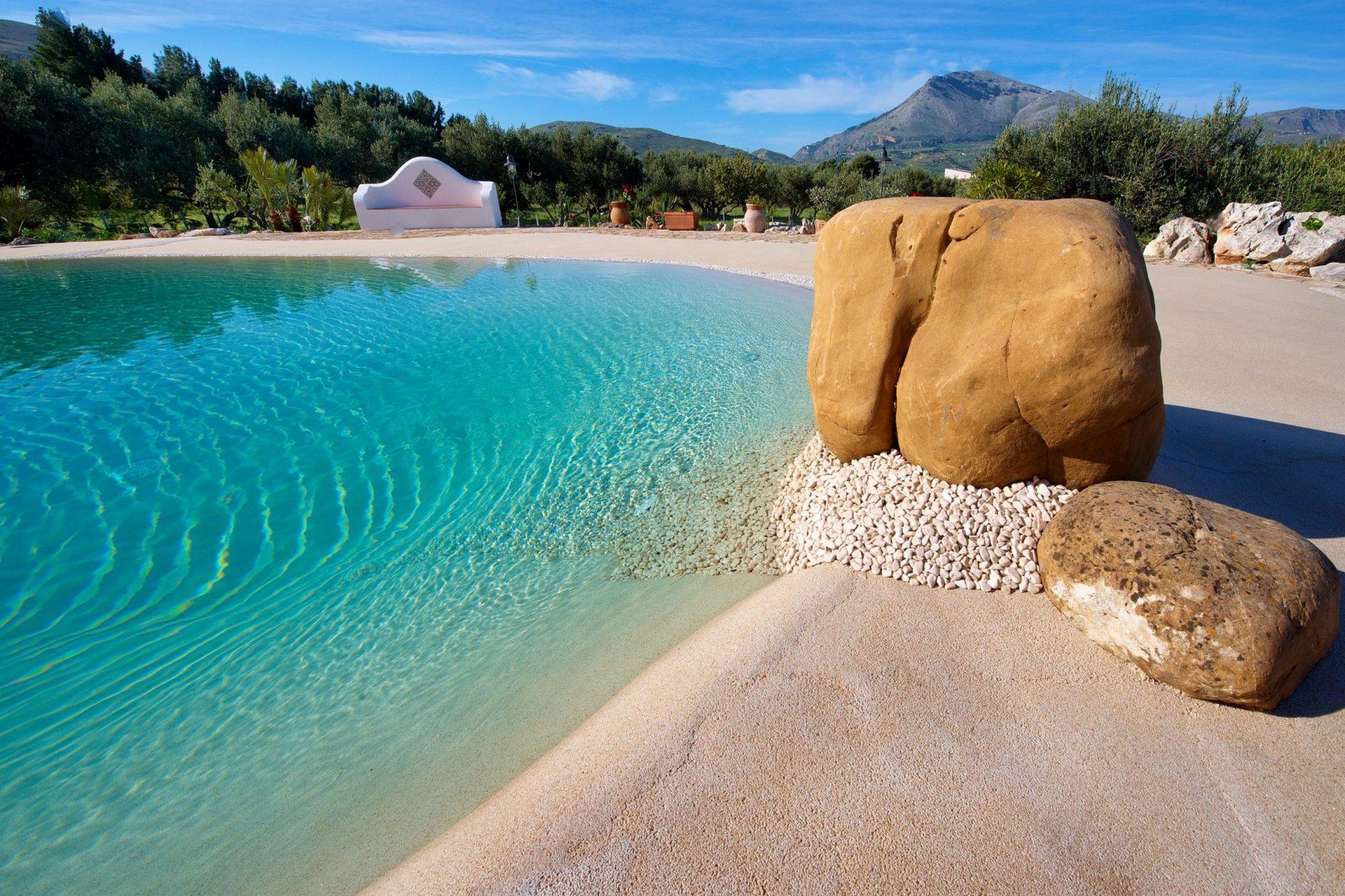 Arena de silice para piscinas